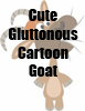Cute Gluttonous CArtoon Goat T-Shirts and accessories by Cheerful Madness!! at Cafepress