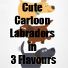Cute Cartoon Labradors in 3 Flavours T-Shirts and more Collection by Cheerful Madness!! at Zazzle