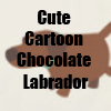 Cute Cartoon Chocolate Labrador retriever T-Shirts and accessories Line by Cheerful Madness!! at Zazzle