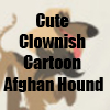 Cute Clownish Cartoon Afghan Hound Merchandise Line by Cheerful Madness!! at Zazzle