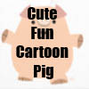 Cute Fun Cartoon Pig Merchandise Line by Cheerful Madness!! at Zazzle