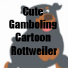 Cute Gamboling Cartoon Rottweiler Merchandise Line by Cheerful Madness!! at Zazzle