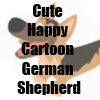 Cute Happy Cartoon German Shepherd Merchandise by Cheerful Madness!! at Zazzle