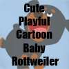 Cute Playful Cartoon Baby Rottweiler merchandise Collection by Cheerful Madness!! at Zazzle