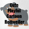 Cute Playful Cartoon Rottweiler T-Shirts and more Collection by Cheerful Madness!! at Zazzle