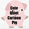 Cute Quiet Cartoon Pig T-Shirts and accessories Line  by Cheerful Madness!! at Zazzle
