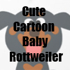 Cute Cartoon Baby Rottweiler T-Shirts and more by Cheerful Madness!! at Zazzle