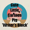 Cute Little CArtoon Pig 'Writer's Block' T-Shirts, accessories and more by Cheerful Madness!! at Zazzle