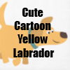 Cute Cartoon Yellow Labrador Retriever T-Shirts and more Collection by Cheerful Madness!! at Zazzle